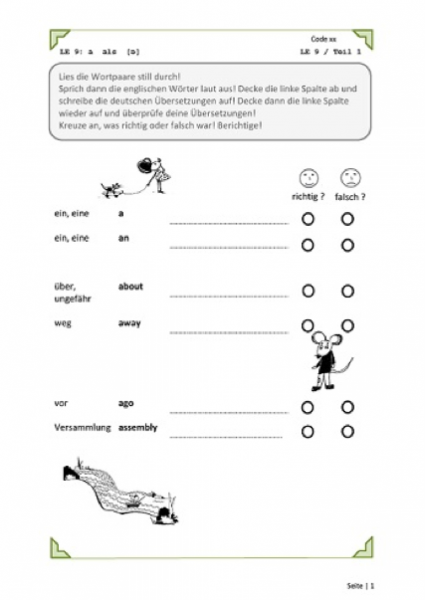Correct – LRS- Vokabeltraining Englisch für Kinder | FIDD Förderinstitut